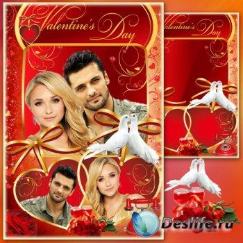 Рамка-валентинка для фото - Волшебник добрый Валентин несет любовь, добро и ...