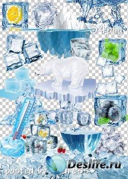 Подборка клипарта png для дизайна - Лед, ледяные кубики, айсберги