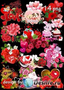 Романтические кластеры к Дню Святого Валентина - Set of png clusters for Va ...