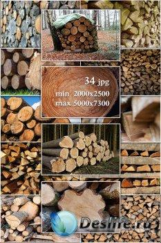 Wood, logs, firewood - Лес, дерево, бревна, дрова