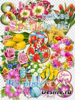 Весенний клипарт в png 2