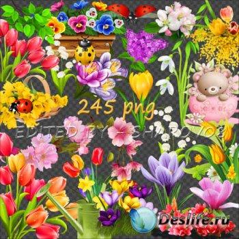 Клипарт на прозрачном фоне - Весна идёт, весне дорогу