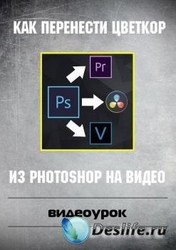 Как перенести цветкор из Photoshop на видео