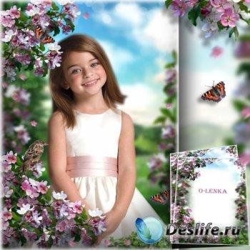 Коллаж и фоторамка - Белоснежный аромат издает цветущий сад