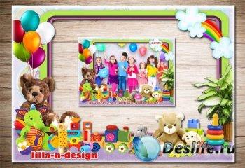 Рамка в формате PNG для фото группы в детском саду - Наш любимый детский са ...