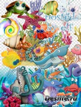 Png клипарт на прозрачном фоне - Тайны морского дна