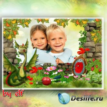 Рамка для детских фото - Дракон