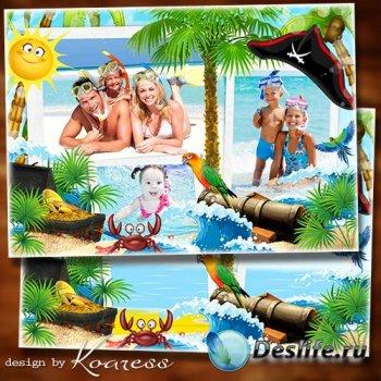 Рамка для летних фото - Остров пиратов