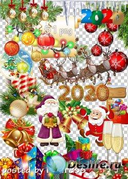 Праздничный клипарт png - Новогодние украшения-2