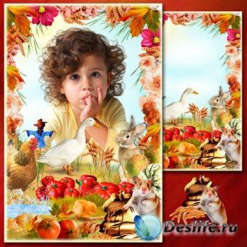 Рамка для Фотошопа - Осенние истории 3
