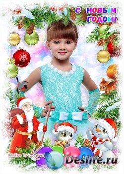 Рамка для новогоднего утренника - Белый снег украсил ели, скоро Новый Год п ...