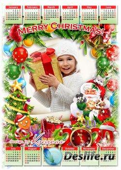 Праздничный календарь-фоторамка на 2020 - С Новым годом, Рождеством, с новы ...