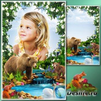 Рамка для Фотошопа - Весенние истории 12