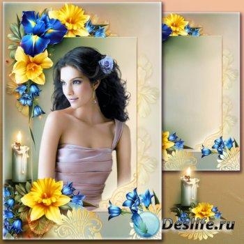Рамка для Фотошопа - Портрет со свечой
