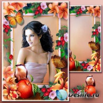 Рамка для фотошопа - Натюрморт с яблоком