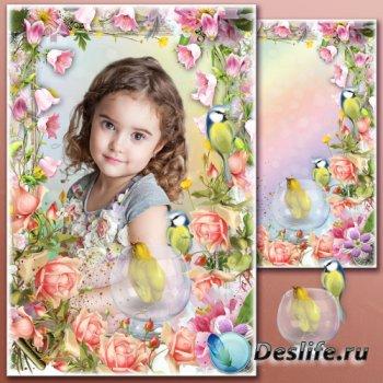 Цветочная рамка для фотошопа - Лето по-итальянски
