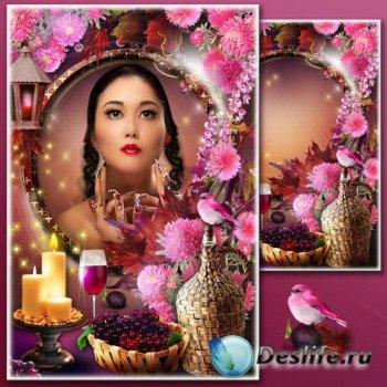 Рамка для фотошопа - Фиолетовая осень