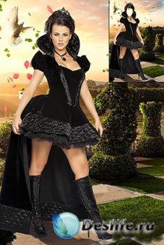 Костюм для фотошопа - Шахматная королевна