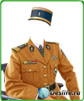 Костюм мужской для фотошопа - Французский жандарм