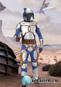 Мужской костюм для фотошопа - Солдат из звёздных войн