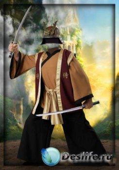 Костюм для фотошопа - Мужчина самурай