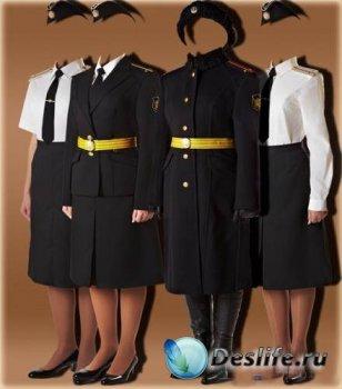 Костюм для девушки в фотошопе - Девушки в военной форме