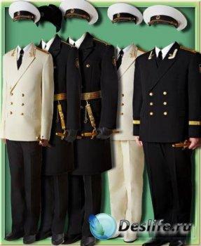 Костюмы для фотошопа - Мужчины в военной форме