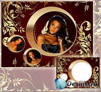 Рамка для фотографии - Роскошное золото