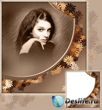 Рамка для фотографии - Осенние цветы