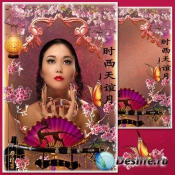 Цветочная рамка для фото в восточном стиле - Ханами - праздник цветения сак ...