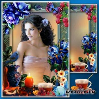 Рамка для фото - Чай с малиной